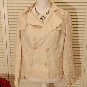 I.N.C linen jacket. Cream color.